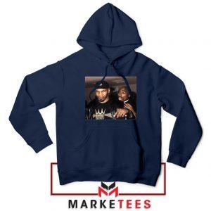 Mike Tyson Tupac Shakur Navy Blue Hoodie