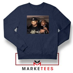 Mike Tyson Tupac Shakur Navy Blue Sweatshirt