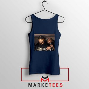 Mike Tyson Tupac Shakur Navy Blue Tank Top