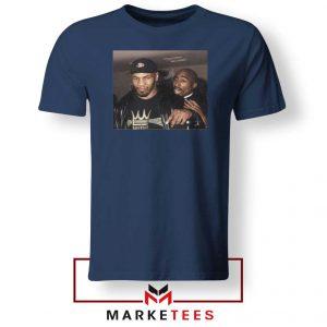 Mike Tyson Tupac Shakur Navy Blue Tshirt