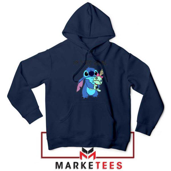 My Spirit Animal Stitch Navy Blue Hoodie