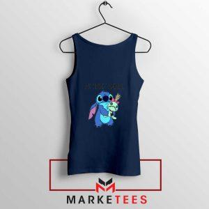 My Spirit Animal Stitch Navy Blue Tank Top