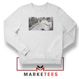 Oasis Gallagher Brothers White Sweatshirt