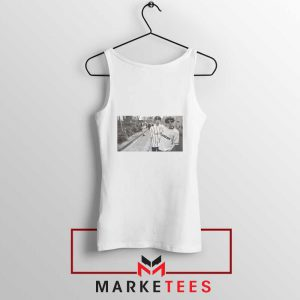 Oasis Gallagher Brothers White Tank Top