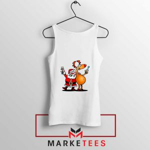 Santa and Reindeer Tank Top