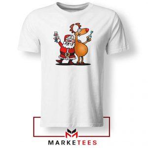 Santa and Reindeer Tshirt