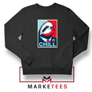 Sloth Chill Black Sweatshirt