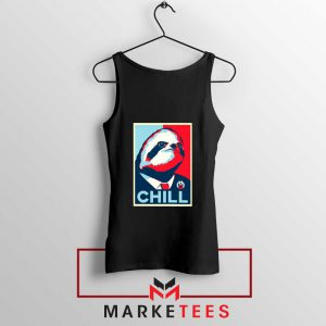 Sloth Chill Black Tank Top