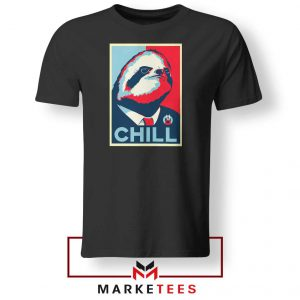 Sloth Chill Black Tshirt