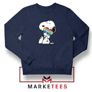 Snoopy NHS Rainbow Navy Blue Sweatshirt
