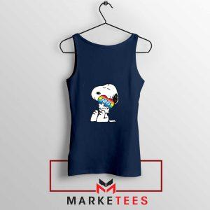 Snoopy NHS Rainbow Navy Blue Tank Top