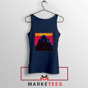 Starboy Album Navy Blue Tank Top