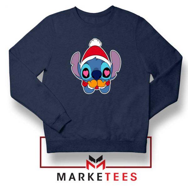 Stitch Heart Eyes Navy Blue Sweatshirt