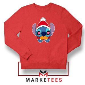 Stitch Heart Eyes Red Sweatshirt