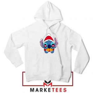Stitch Heart Eyes White Hoodie