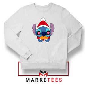 Stitch Heart Eyes White Sweatshirt