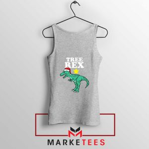 Tree Rex Xmas Sport Grey Tank Top
