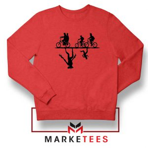 Upside Down Horror Red Sweatshirt