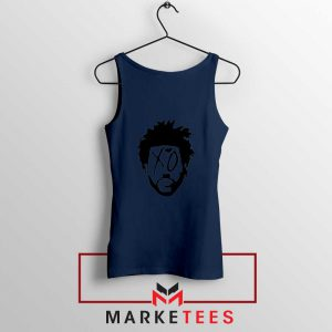 XO Record Label Navy Blue Tank Top