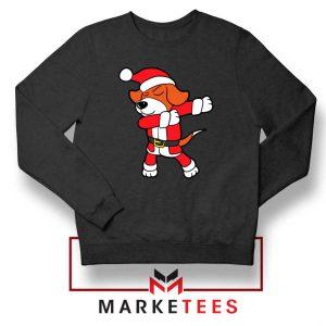 Xmas Dabbing Dog Black Sweatshirt