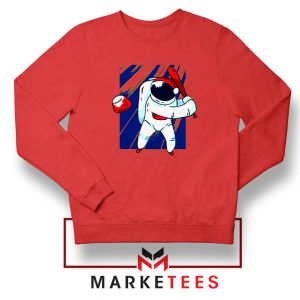 Astronaut Baseball Sport New Red Sweatshirt