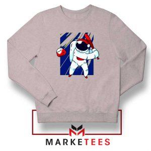 Astronaut Baseball Sport New Sport Grey Sweatshirt