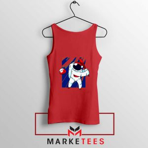 Astronaut Nasa Baseball Red Tank Top