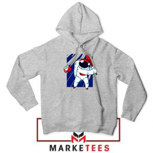 Astronaut Nasa Baseball Sport Grey Hoodie