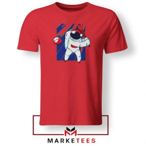 Astronaut Sport Baseball Best Red Tshirt