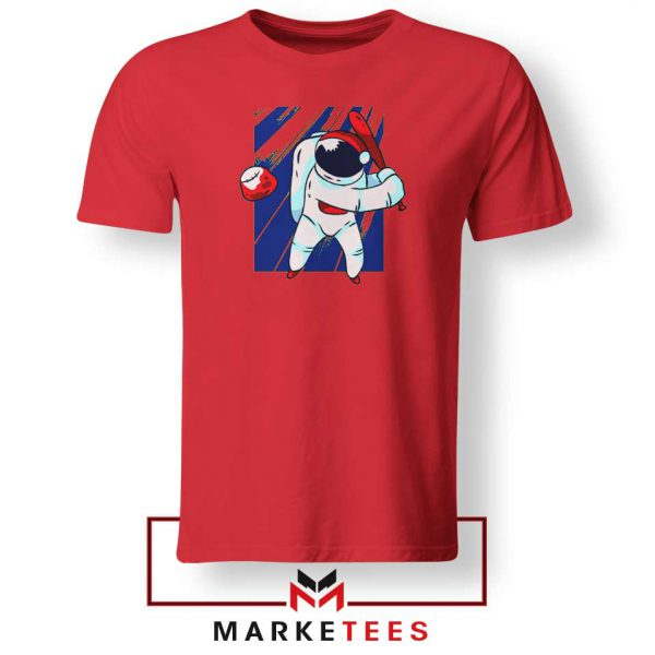 Astronaut Sport Baseball Best Red Tshirt