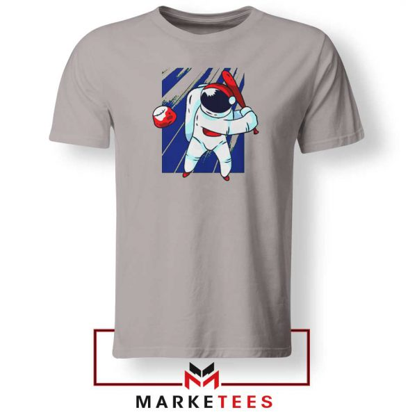 Astronaut Sport Baseball Best Sport Grey Tshirt