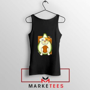 Avocado Vegan Dog Black Tank Top