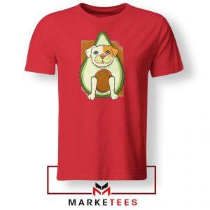 Avocado Vegan Dog Graphic Red Tshirt