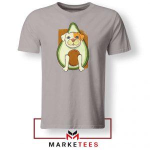 Avocado Vegan Dog Graphic Sport Grey Tshirt