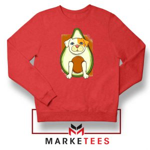 Avocado Vegan Dog Red Sweatshirt