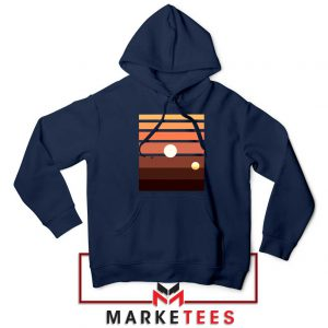 Binary Sunset Star Wars Best Navy Blue Hoodie