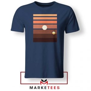 Binary Sunset Star Wars Best Navy Blue Tshirt