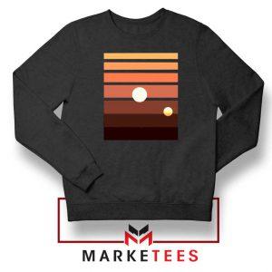 Binary Sunset Star Wars Black Sweatshirt