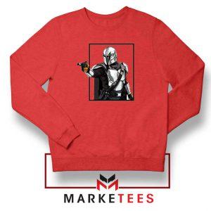 Boba Fett Design Star Wars Red Sweatshirt