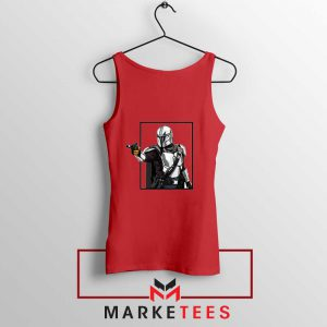 Boba Fett Design Star Wars Red Tank Top