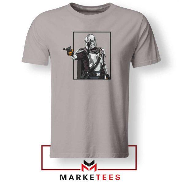Boba Fett Design Star Wars Sport Grey Tshirt