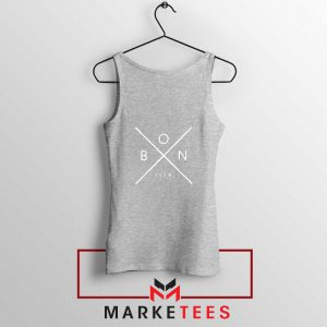 Bon Iver Band X Logo Design Sport Grey Tank Top