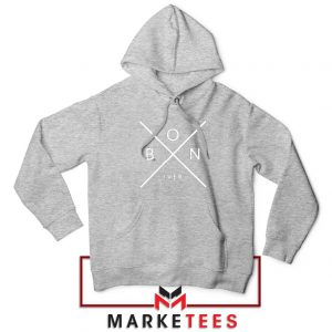 Bon Iver Band X Logo Jacket Sport Grey Hoodie