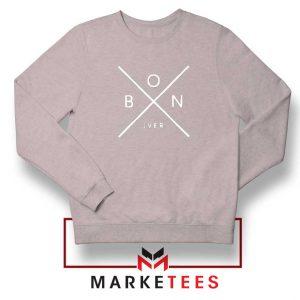 Bon Iver Indie Band X Logo Sport Grey Sweatshirts