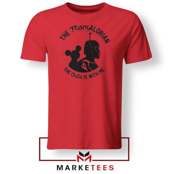 Galaxy Edge Mom Mickey New Red Tshirt