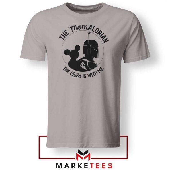 Galaxy Edge Mom Mickey New Sport Grey Tshirt