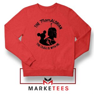 Galaxy Edge Mom Mickey Red Sweatshirt