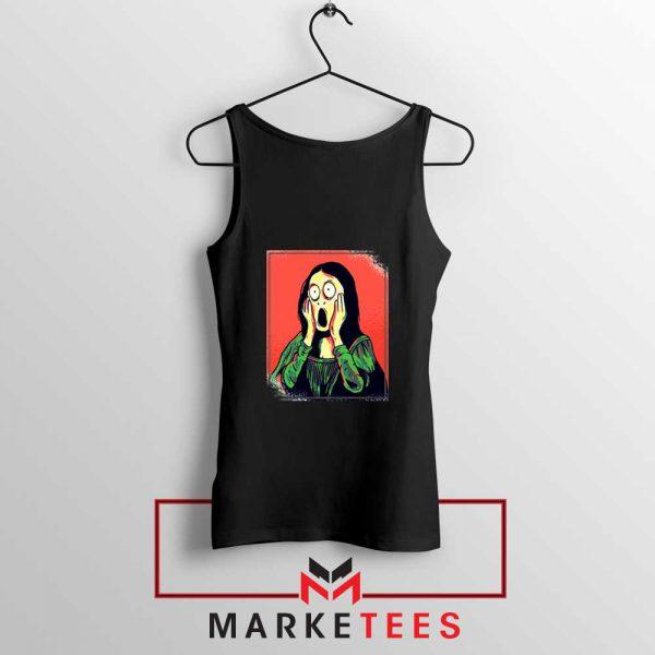 Mona Lisa Cartoon Best Graphic Black Tank Top