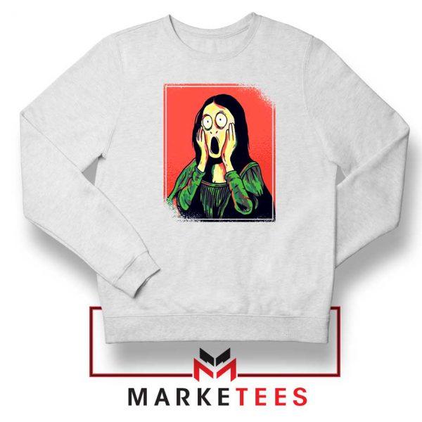 Mona Lisa Cartoon Design Sweatshirt