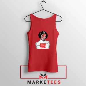 Princess Leia Rebel David Bowie Red Tank Top